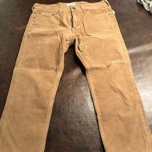 Men's old navy khaki corduroy slim pants